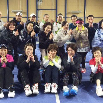 2015秋のシニア交流テニス大会の様子1