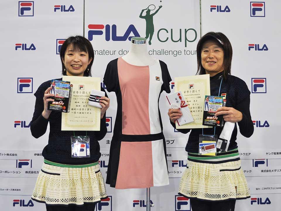 2位トーナメント優勝 福田 あずみさん(YeLL)、福田 恵子さん(スポーツガーデン新潟)