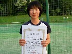 14歳以下女子ダブルス 第3位:福田 あずみさん