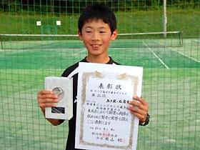 12歳以下男子シングルス 第6位:五十嵐 涼くん