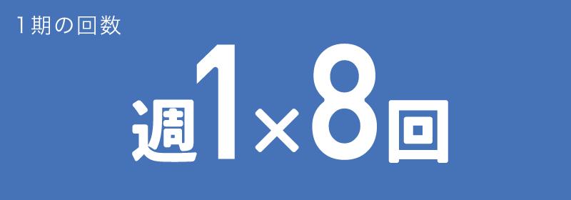 レッスン回数(標準) 週1×8回